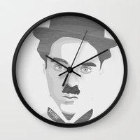 chaplin Wall Clocks featuring Chaplin by Beitebe