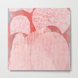 Catalogue - Graphic Abstract Geometric Print in Pink Metal Print