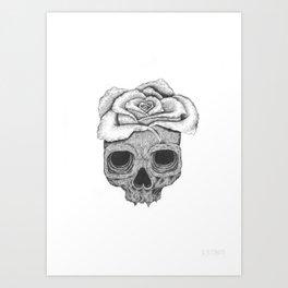 Death Rose Art Print