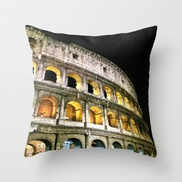 Il Colosseo - The Coliseum at Night (Rome, Italy) Throw Pillow