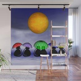 mooncats -7- Wall Mural