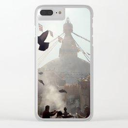 boudhanath stupa in kathmandu. Clear iPhone Case