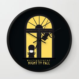Waiting for the night to fall Wall Clock