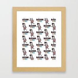 Bacon Love Framed Art Print