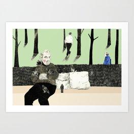 Pierre's Glorious Pigeons Art Print