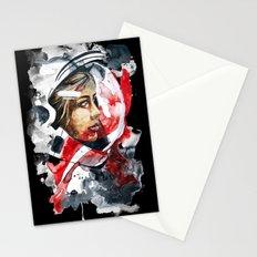 cosmonaut portrait by carographic Stationery Cards