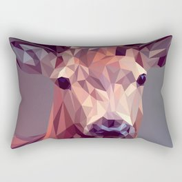 Colorful Polygons Abstract Deer Rectangular Pillow