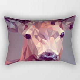 Colorful Polygons Abstract Deer Rectangular Pillow