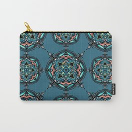 Sea Bliss Color Mandala Pattern Carry-All Pouch