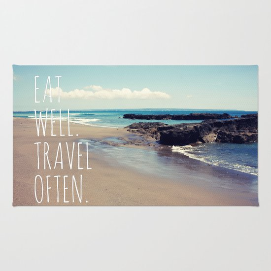 Eat Well Travel Often Rug
