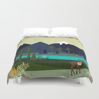 cartoons Duvet Covers featuring March by Kakel
