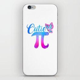 Cute & Funny Cutie Pi Math Pie Butterfly iPhone Skin