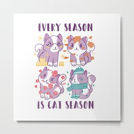 Cat Season Metal Print
