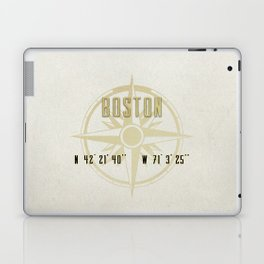 Boston - Vintage Map and Location Laptop & iPad Skin