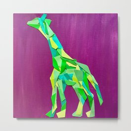 Giraffe collage of paint samples Metal Print
