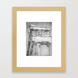 The Northeast Corner of the Parthenon, Athens, Greece Framed Art Print