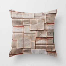 Open Books Library Bookworm Reading Throw Pillow