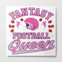 Fantasy Football Queen American I Suck At Gift Metal Print