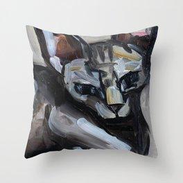 Cat, lying animal Throw Pillow