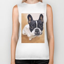 French Bulldog Gouache Artwork Biker Tank