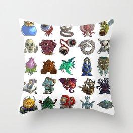 Terrarias All Bosses Throw Pillow