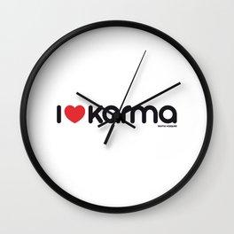 I Love Karma Wall Clock