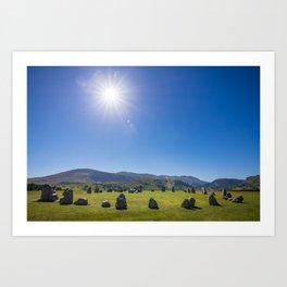 Castlerigg Stone Circle in English Lake District Art Print