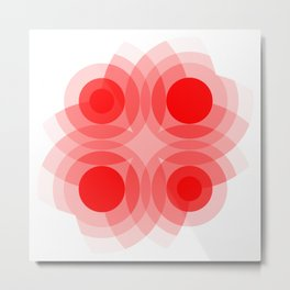 Red Interference Metal Print