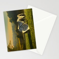 Civil War canon and limber in the early morning mist. Stationery Cards