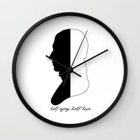 jane austen Wall Clocks featuring Jane Austen Persuasion Captain Wentworth  by Corrie Jacobs