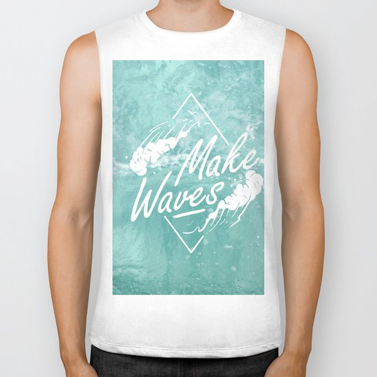 Make waves Biker Tank
