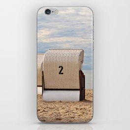 two lonely beach chairs iPhone Skin