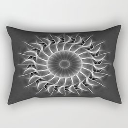 Gray Kaleidoscope Art 27 Rectangular Pillow