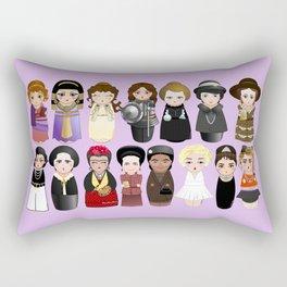 Kokeshis Women in the History 2.0 Rectangular Pillow