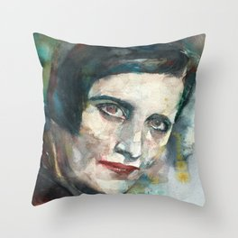AYN RAND - watercolor portrait.3 Throw Pillow
