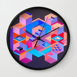 Cubic Inversion III Wall Clock