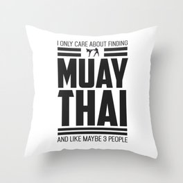 Only Care About Muay Thai Retro MMA Throw Pillow
