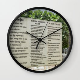 S21 Rules - Khmer Rouge, Cambodia Wall Clock