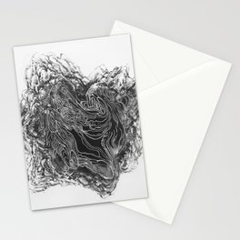 Topography of the Mind X Stationery Cards