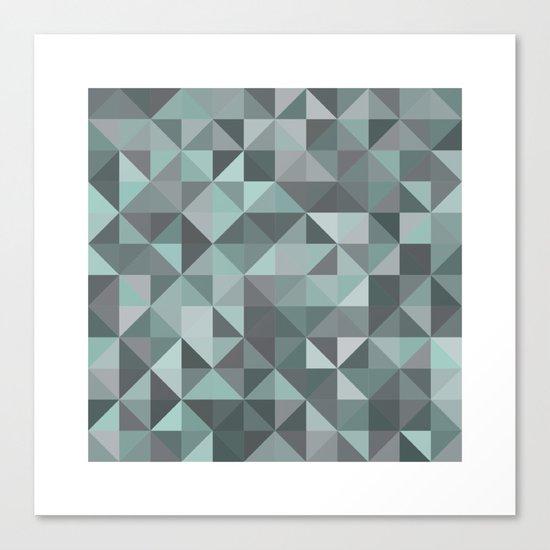 #105 Diamond dust – Geometry Daily Canvas Print