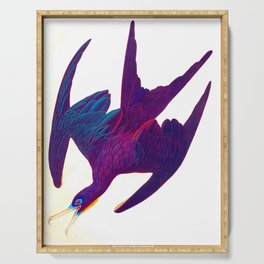 Frigate Pelican John James Audubon Vintage Scientific Bird Illustration Serving Tray