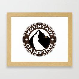 Mountain Camping Framed Art Print