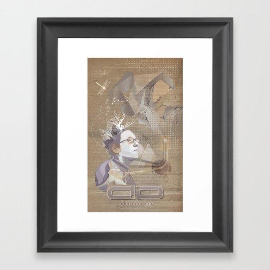 adamned.age artist poster  Framed Art Print