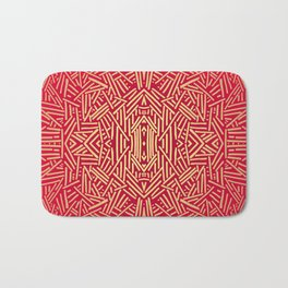 Radiate (Red Yellow Ochre non-metallic) Bath Mat