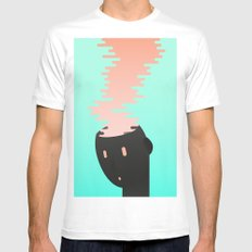 Brain combustion LARGE White Mens Fitted Tee