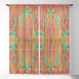Firewall pattern ... Sheer Curtain