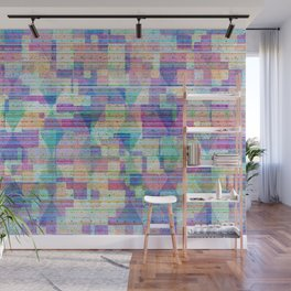 Pastel Glitch Texture Geometry Abstract Wall Mural