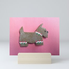 THE GINGERBREAD SCOTTIE Mini Art Print