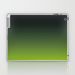 Ombre | Charcoal Grey and Lime Green Laptop & iPad Skin