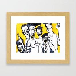 Drunk boys Framed Art Print